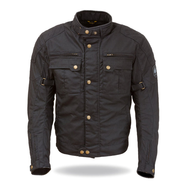 Merlin Perton, Waxed Armoured Motorcycle Jacket - Foxxmoto