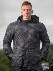 Merlin Belmot, Waxed Armoured Urban Camo Jacket - Foxxmoto