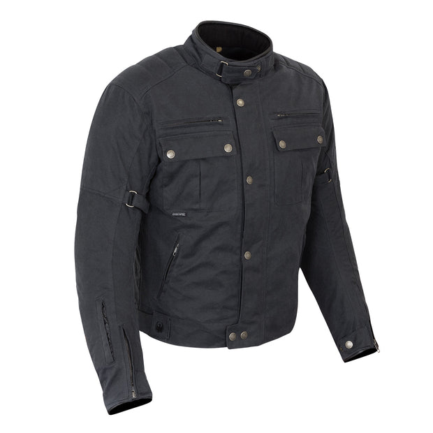 Merlin Barton II, Waxed Armoured Motorcycle Jacket Black