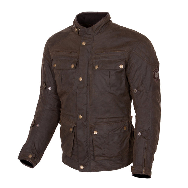 Merlin Yoxall II, Waxed Armoured Motorcycle Jacket Olive
