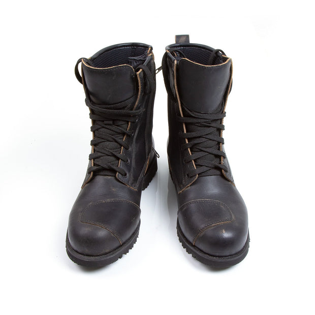 Oxford Merton, Leather Armoured Waterproof Motorcycle Boots - Foxxmoto