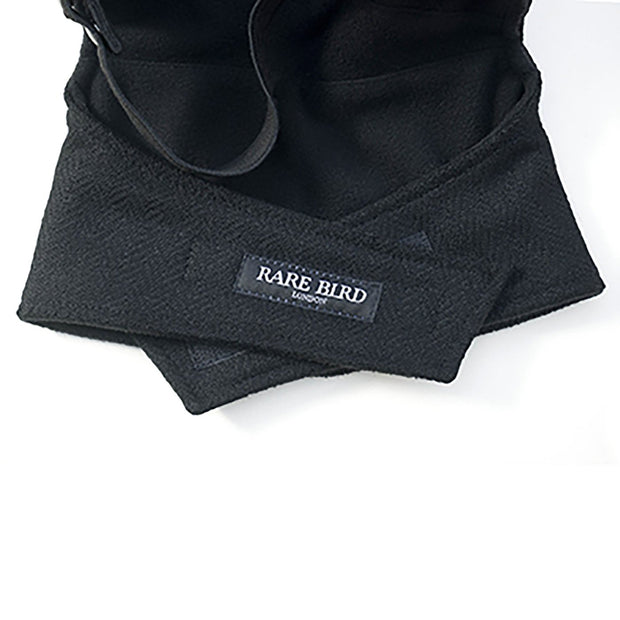 Rare Bird Face Mask, Winter Specification Herringbone Tweed Black - Foxxmoto