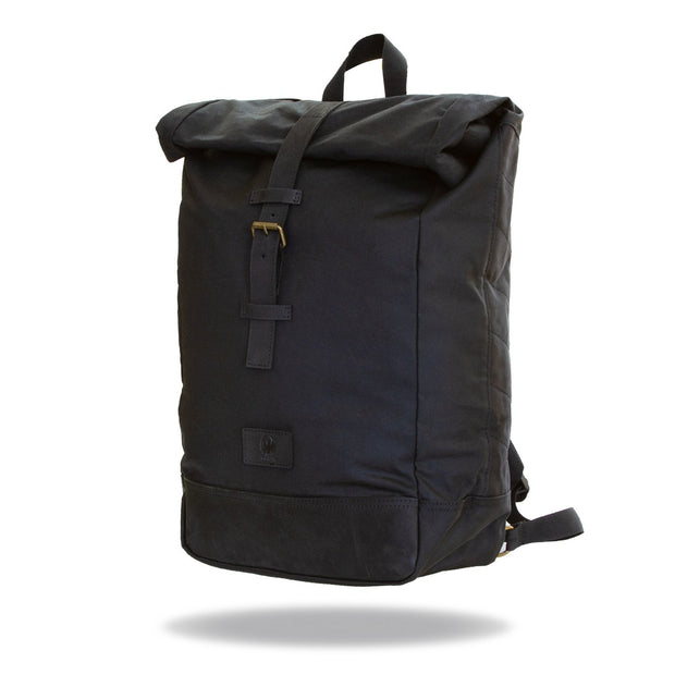 Merlin Yarnfield, Roll Top Waxed Cotton Rucksack - Foxxmoto