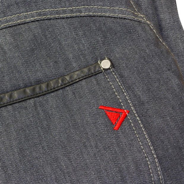 Route One Brooklyn Kevlar Lined, Armoured, Waterproof Jeans, Grey - Foxxmoto