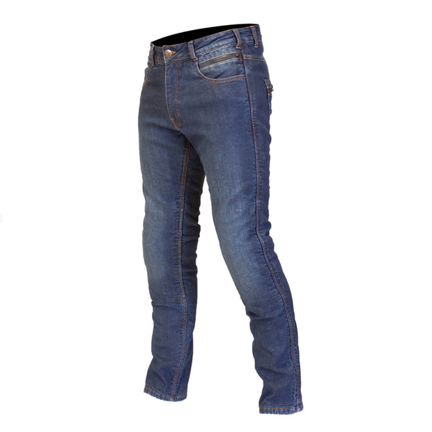 Route One Mason Denim Kevlar Lined Armoured Waterproof Jeans, Blue - Foxxmoto