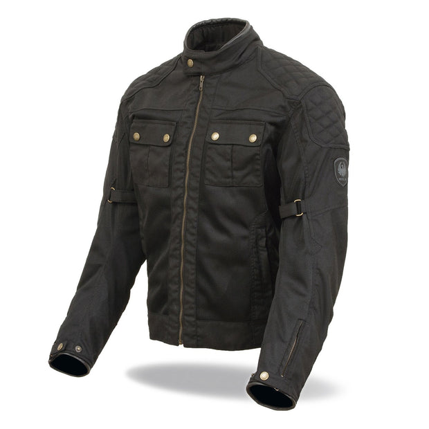 Merlin Shenstone, Waxed Armoured Air Motorcycle Jacket - Foxxmoto