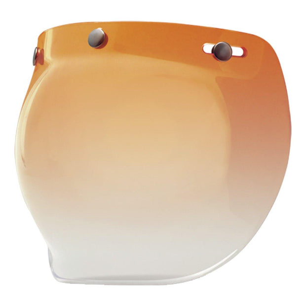 Bell Cruiser Custom 500 Helmet, Snap-On Bubble Visor Amber Gradient - Foxxmoto
