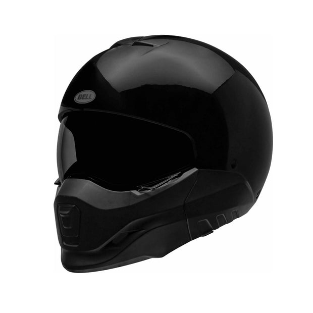 Bell Broozer Solid/Gloss Black at Foxxmoto
