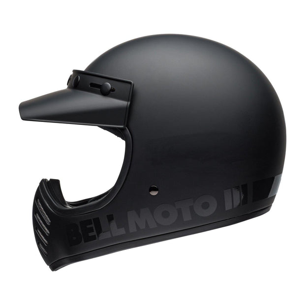 Bell Cruiser Moto 3 Helmet, Blackout Matt Black - Foxxmoto