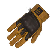 Helstons Wolf Leather Gloves - Gold/Brown at Foxxmoto