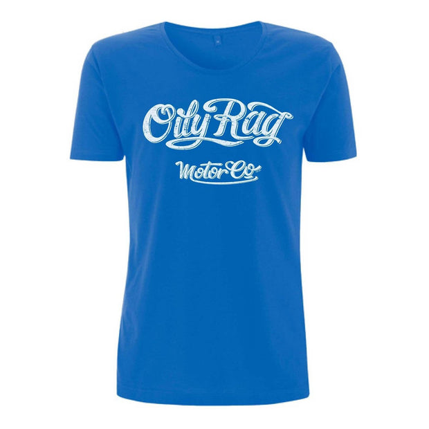 Oily Rag Motor Co Blue T Shirt (scooped neck) - Foxxmoto