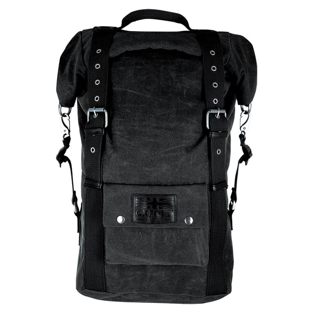 Oxford Heritage Back Pack / Ruck Sack, Waxed Cotton 30 Litre - Foxxmoto