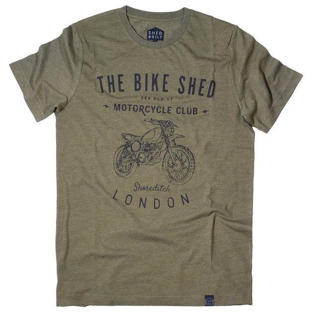 Bike Shed T-Shirt Boxer, Green - Foxxmoto