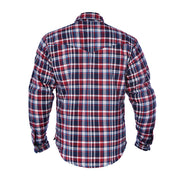 Oxford Kickback Kevlar Lined Motorcycle Shirt, Red/White/Blue Chequer - Foxxmoto
