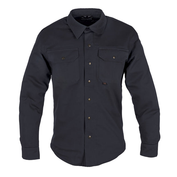Oxford Kickback Kevlar Lined Motorcycle Shirt, Black - Foxxmoto