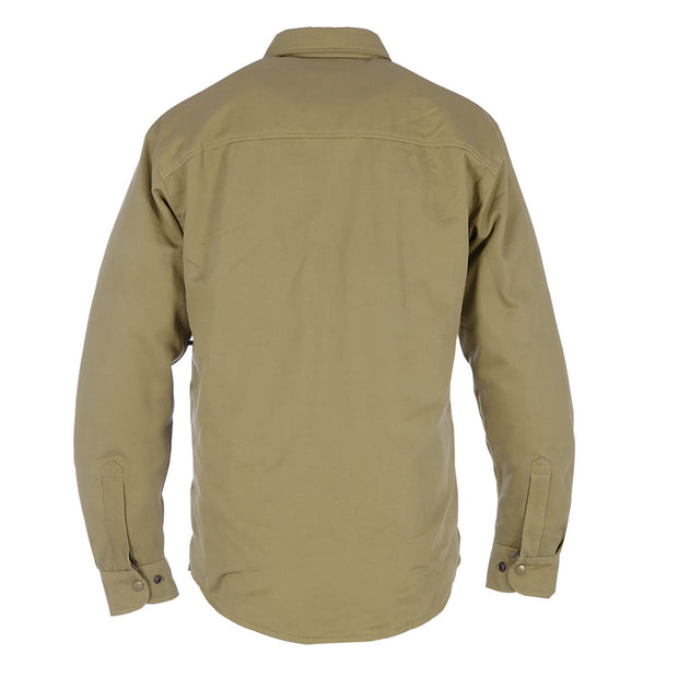 Oxford Kickback Kevlar Lined Motorcycle Shirt, Military Green - Foxxmoto