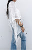 Gypset Summer Medallion Velvet Burnout Tassel Kimono - White
