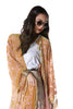 Gypset Medallion Velvet Burnout Tassel Kimono - Rose Gold