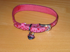 Dog Collar Rose Heart Pattern (Adjustable)