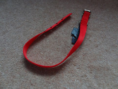 Dog Collar Ancol Red or Black Nylon Size 7 - 24 inch