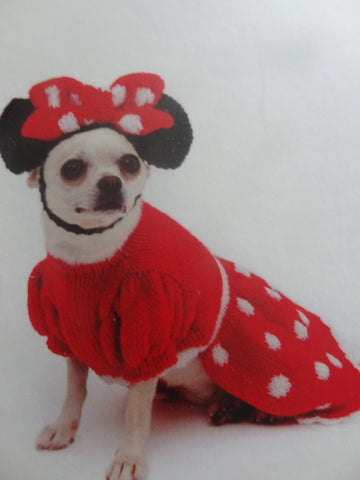 Knitted Disney Minnie Mouse Dress/Costume