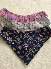 Dog Bandanas/ Neckerchiefs Floral, Marine, Dalmation, Skulls and Roses, Gingham