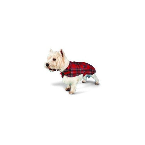 Pennine Red Tartan Dog Coat / Jacket