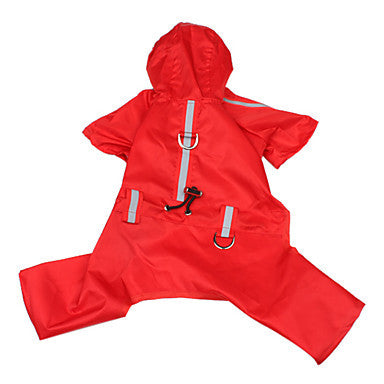 Dog Waterproof Coat with Reflective Tape for Visibility