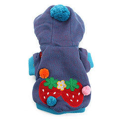 Dog Costume/Coat Strawberry Jacket with Hoodie