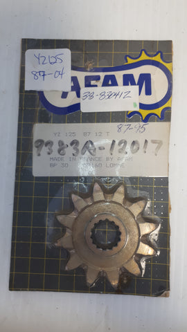 YZ 125 FRONT SPROCKET 12T AFAM 1987-2004