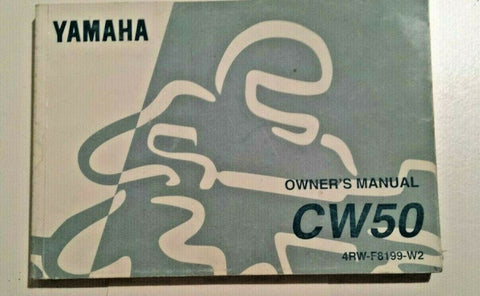 CW 50 YAMAHA OWNERS MANUAL