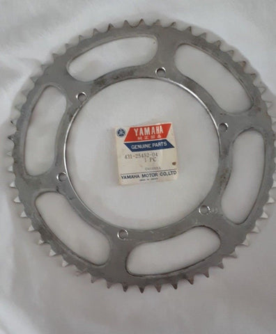 YAMAHA REAR SPROCKET 431-25452-04 1974-1980...IT250, IT400, YZ250, YZ360,MX250 M