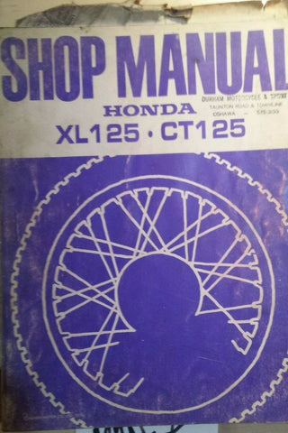 HONDA XL 125   CT 125 SHOP MANUAL