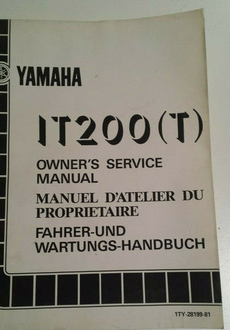 YAMAHA IT200T SERVICE MANUAL 1TY-28199-81