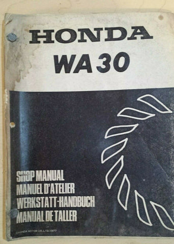 HONDA WA30 SHOP MANUAL