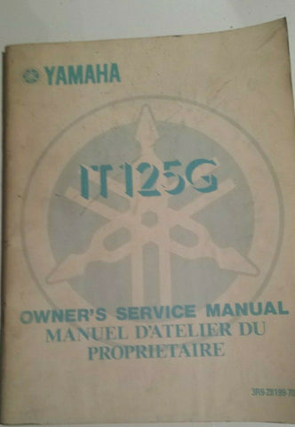 1980 IT125G MANUAL OEM YAMAHA