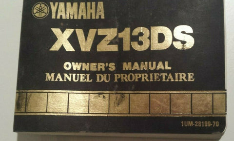 XVZ13DS YAMAHA OWNERS MANUAL
