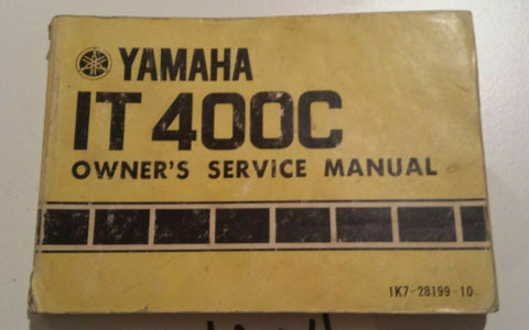 IT400C YAMAHA OWNER'S SERVICE MANUAL