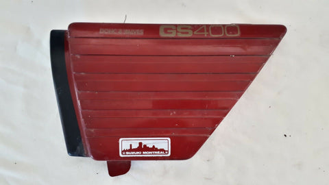 1980 GS400 LEFT RED  SIDE COVER