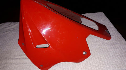 ZX750R NINJA RED BELLY FAIRING, UNDER COWL