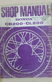 HONDA CB200 CL200 SHOP MANUAL