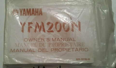 YFM200N YAMAHA OWNER'S MANUAL