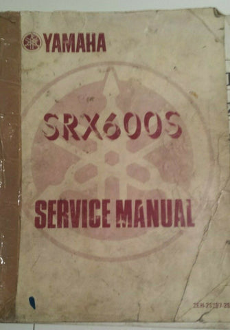 YAMAHA SRX 600S SERVICE MANUAL