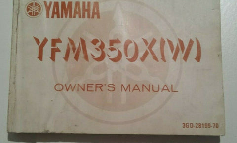 YFM350X(W) YAMAHA OWNERS MANUAL