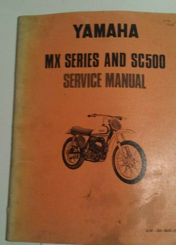 YAMAHA MX AND SC500 SERVICE MANUAL