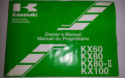 KAWASAKI KX 60,KX80,KX100 OWNERS MANUAL