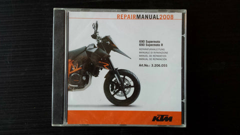 KTM REPAIR MANUAL 690 SUPERMOTO SUPERMOTO R #3206055 , 2008