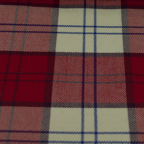 Tartan Fabric - Lennox - Dress - Red
