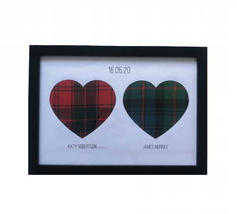 Framed Clan Adornment (Two Hearts)