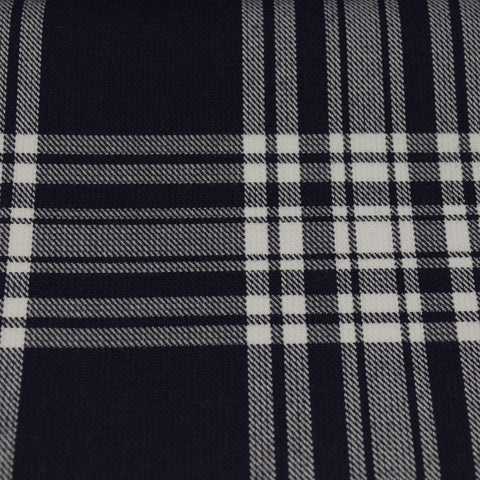 Tartan Fabric - Menzies - Navy